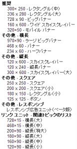 01_GoogleAdsense広告ユニットサイズ