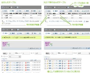 16_XLSインポート後のデータ比較