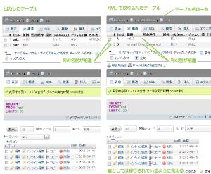 23_XMLインポート後のデータ比較