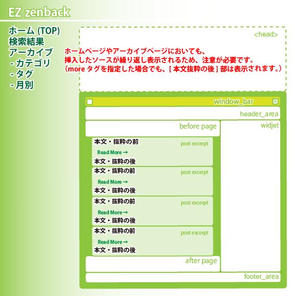 04_EZ Zenback・ホーム,検索,アーカイブ