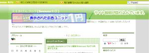 01_GoogleAdSenseの左寄せ状態