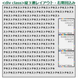 19_3連<div class>レイアウト・CSS縦右寄回込み