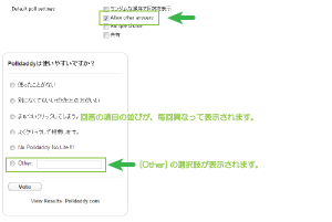20_投票設定・Allow other answer