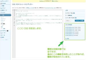 03_CSSスタイルシートエディ表示