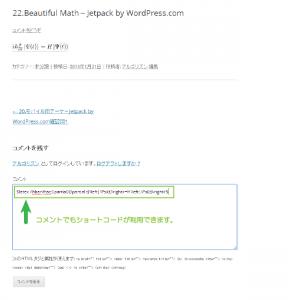 04_コメントへのLATEXコード挿入