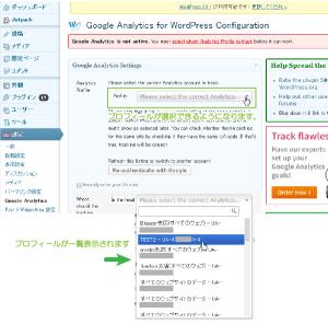 07_Google Analyticsプロフィール選択