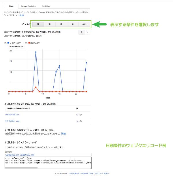 03_統計情報とログ情報の蓄積後