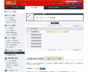 02_対象ドメインの選択と他のネームサーバーを利用
