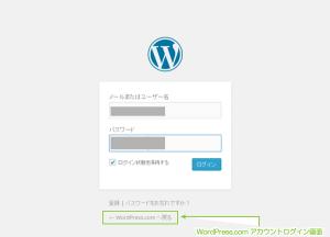 09_WordPress.comアカウントログイン