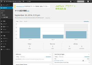 10_サイト統計情報・プラグイン再有効化後