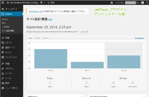 09_サイト統計情報・アンインストール前(GAE)