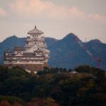 姫路城を高台から望む名古山霊苑(2014年11月14日)|castlehimeji.com